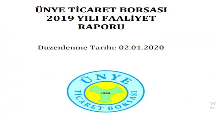 Ünye Ticaret Borsası 2019 yılı Faaliyet Raporu