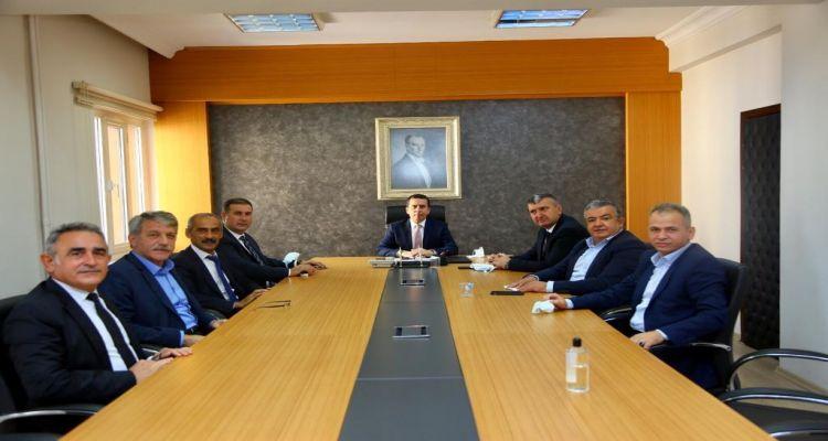 Borsa Başkanımız Mustafa Uslu dan Ünye Kaymakamı Ayhan Işık'a hayırlı olsun ziyareti