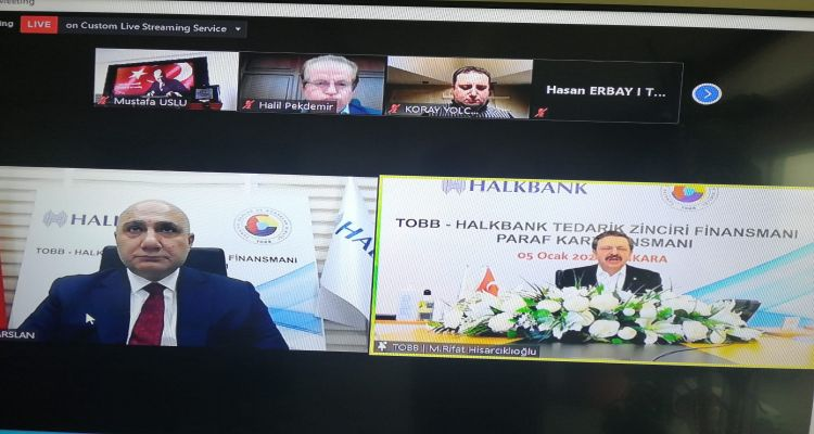 Başkanımız Mustafa USLU, TOBB - HALKBANK TEDARİK ZİNCİRİ FİNANSMANI PARAF KART LANSMANI NA KATILDI.