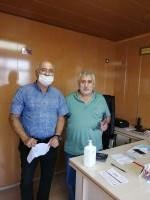 Korona salgını kapsamında üyelerimize dezenfektan dağıtıldı