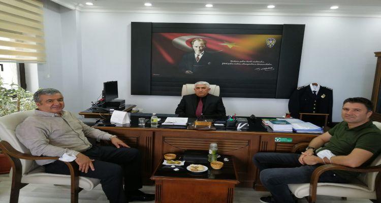 İlçemizde yeni göreve başlayan Emniyet Müdürü İrfan KORKMAZ'a Ziyaret