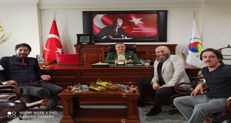 Oyuncu Çetin Altay Borsa Başkanımız Mustafa USLU yu ziyaret etti