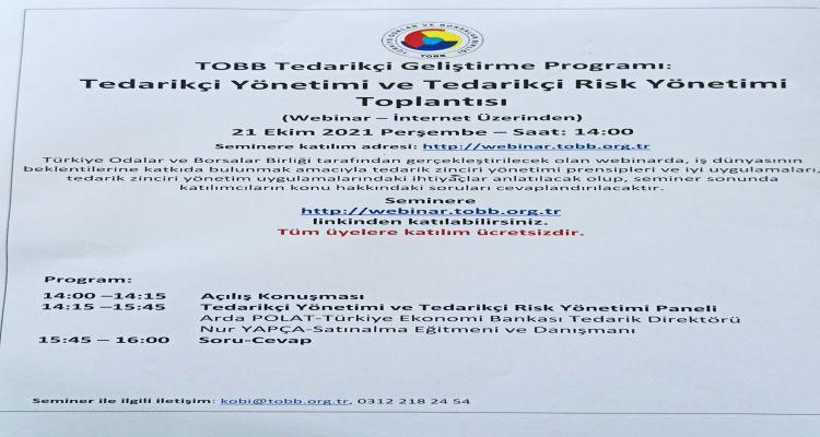 Tedarikçi Yönetimi ve Tedarikçi Risk Yönetimimi Eğitimi
